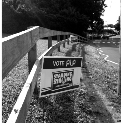Political signs on Middle Road.