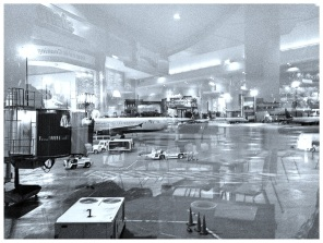 Rainy morning, Logan Airport