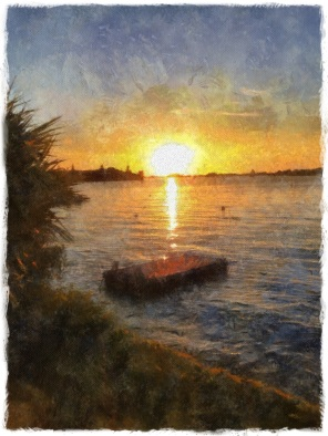 Sundown over Salt Kettle, Warwick, Bermuda.
