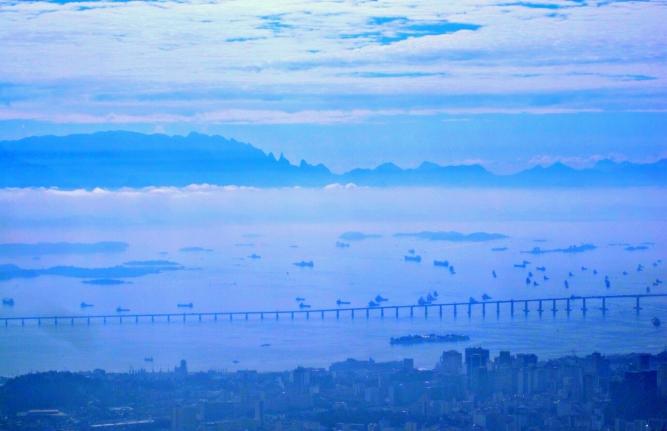 View over Rio de Janeiro from Corcovado.