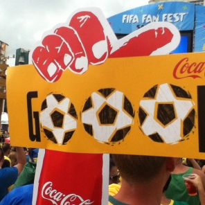 You're never too far from a Coca-Cola logo at a FIFA World Cup.