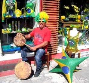 Souvenir seller, Belo Horizonte.